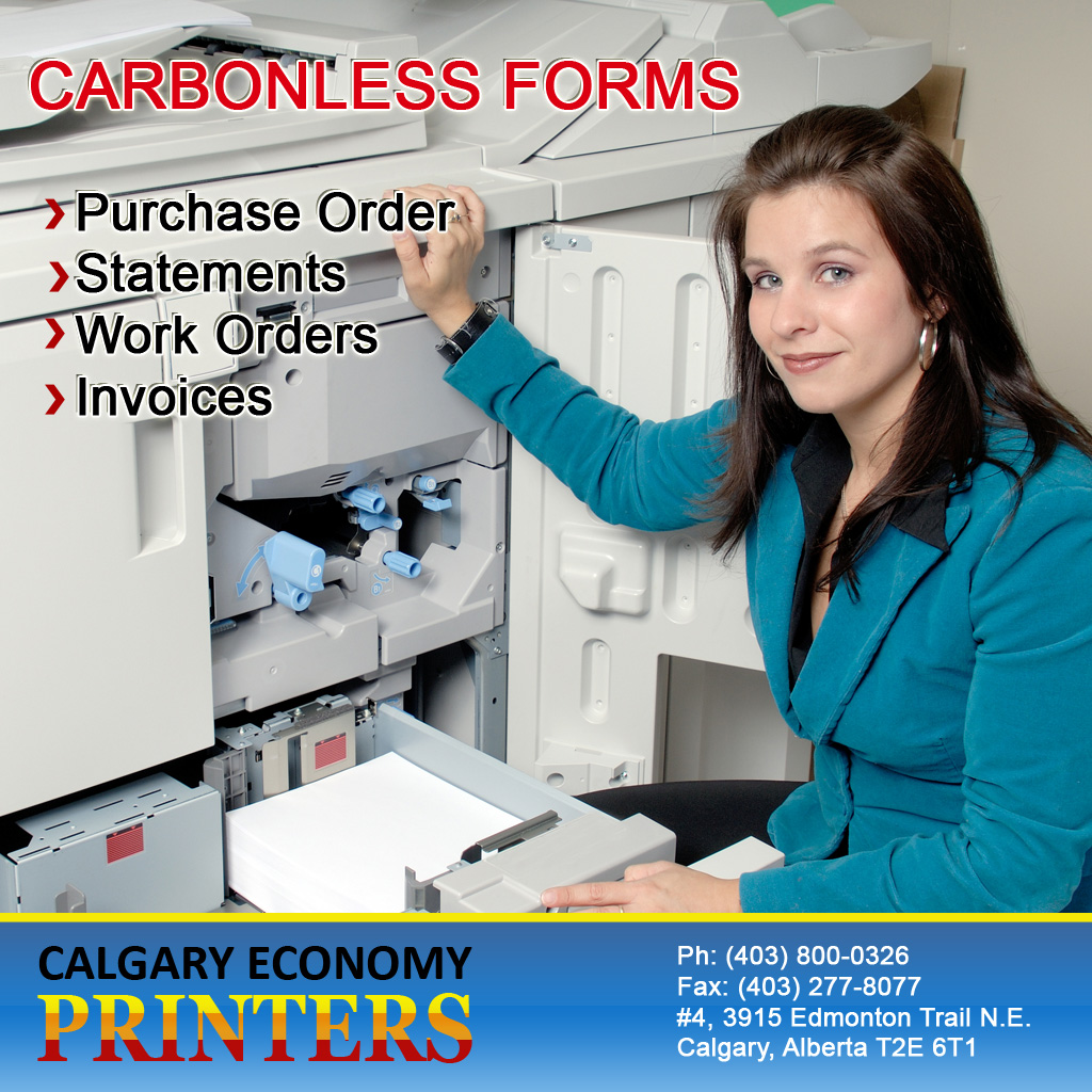 Order Business Invoices Forms, Order Forms and Statements In Calgary
