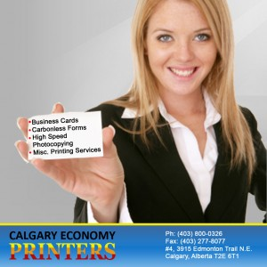 Affordable Personal Business Cards In Calgary By Calgary Economy Printers Serving NE & NW Areas