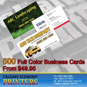 Business Card Printing Done Right By Affordable Business Card Printing Company - Calgary Economy Printers