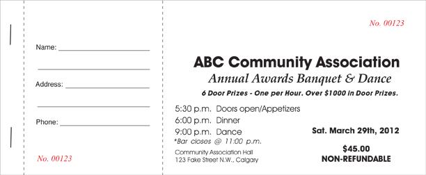Event Ticket Printing Calgary. Call 403-800-0326 Economy Printers NE