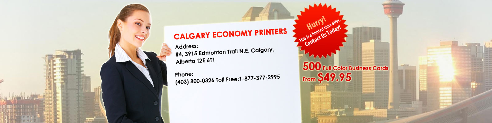 Affordable business card printing company calgary economy printers reheart Gallery