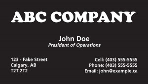 Sample - Calgary Business Cards Printing Services